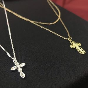 Set of two cross Pendent necklaces!